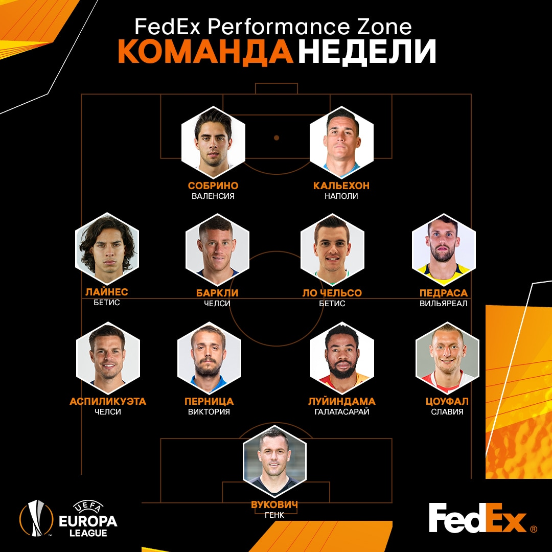 UEFA Europa League Team of the Week - MD7 - RU