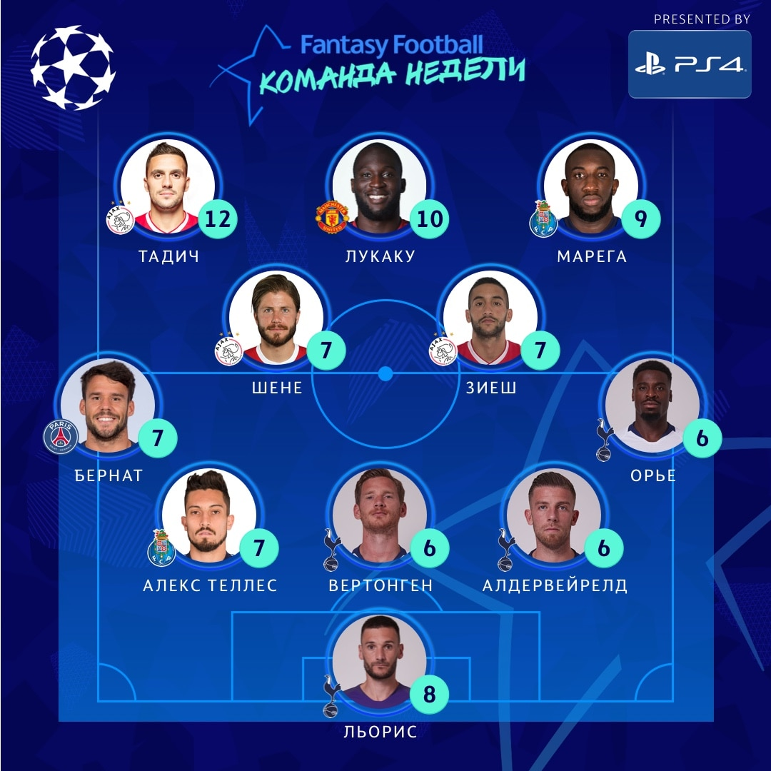 RUS UCL TOTW MD8a