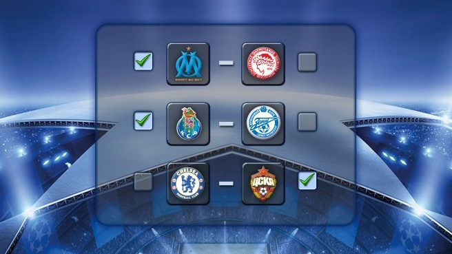 Play our Champions League games and win
