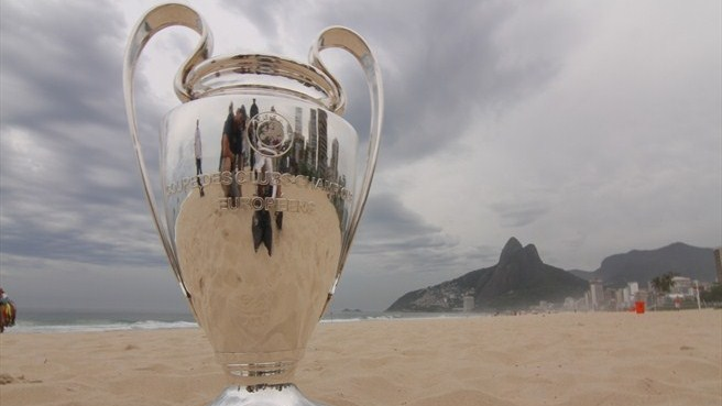 Trophy Tour's beach for the stars in Rio