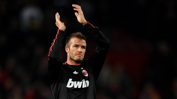 Man. United - Milan reaction (Beckham)