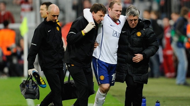 Sir Alex confirms Rooney injury