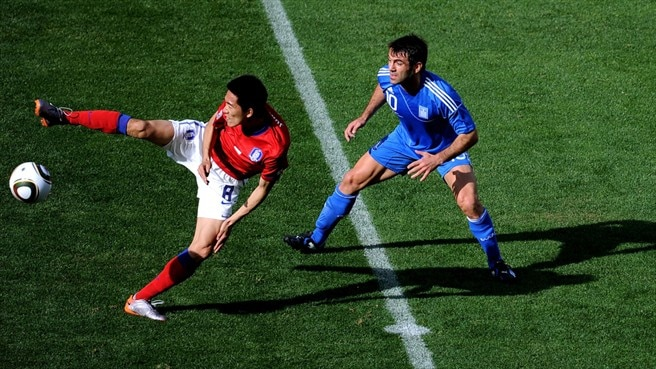 Kim Jung-Woo (South Korea) & Giorgos Karagounis (Greece)