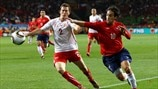 Stephan Lichtsteiner (Switzerland) & Jorge Valdivia (Chile)