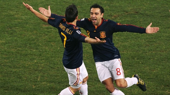 David Villa & Xavi Hernández (Spain)