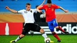 Lukas Podolski (Germany) & David Villa (Spain)