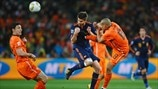 Xabi Alonso (Spain), Mark van Bommel & Nigel de Jong (Netherlands)