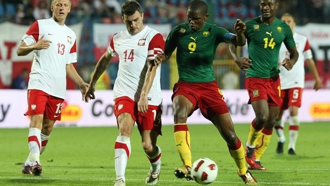 Eto'o makes Poland feel the pain