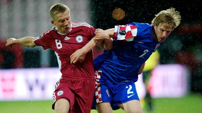 Croatia cruise past Latvia in Riga