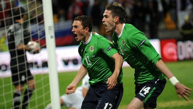 Evans the hero as Northern Ireland stun Slovenia