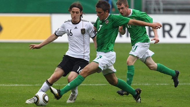 Sebastian Rudy (Germany) & Andrew Little (Northern Ireland)