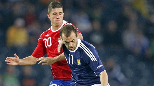 James McFadden (Scotland) & Sandro Wieser (Liechtenstein)