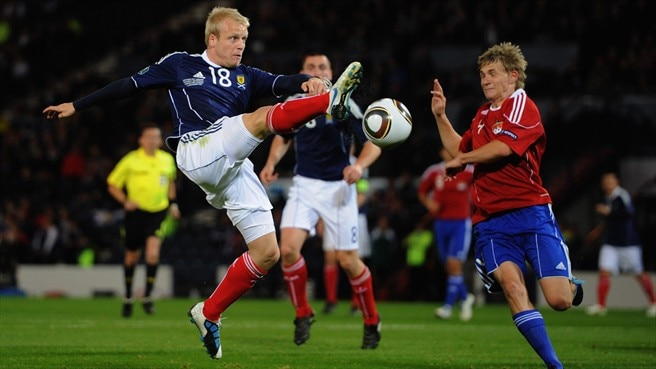 Steven Naismith (Scotland) & Michael Stocklasa (Liechtenstein)