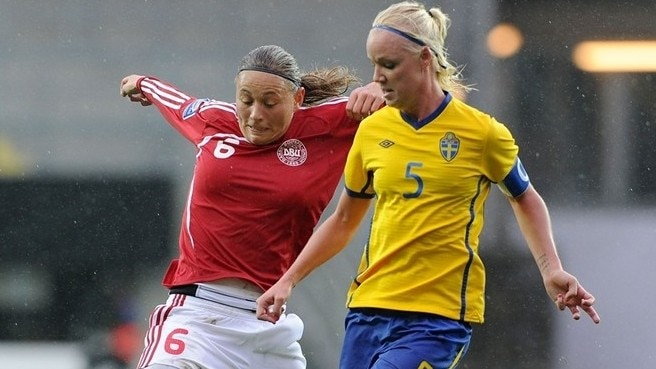 Denmark restrict Sweden to narrow lead