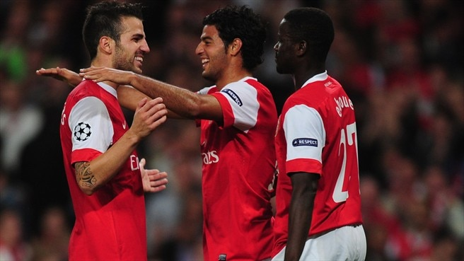Arsenal - Braga reaction (Koscielny, Squillaci & Alan)