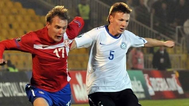 Estonia stun Serbia in Belgrade