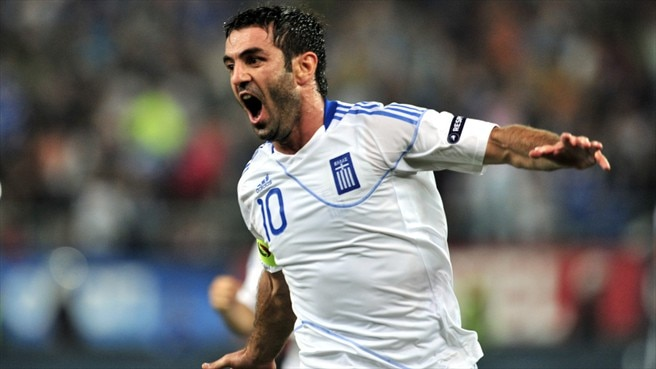 Karagounis spot kick gives Greece the edge