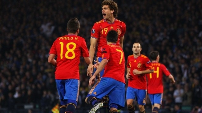Substitute Llorente seals Spain win in Scotland