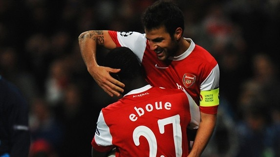 Arsenal - Shakhtar Donetsk reaction (Eboué, Fabiański & Raţ)