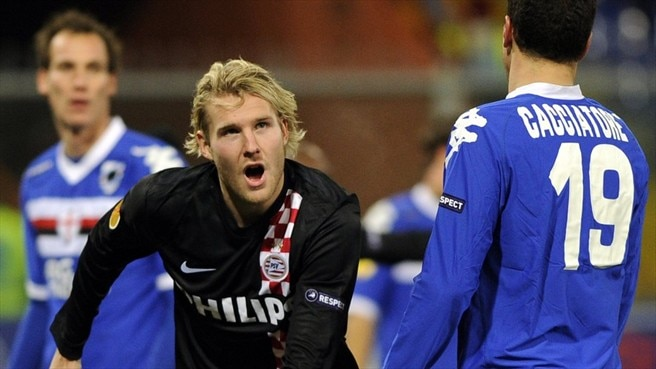 PSV sail on at Sampdoria's expense