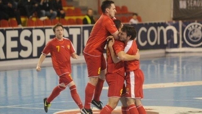 Former Yugoslav Republic of Macedonia celebrate