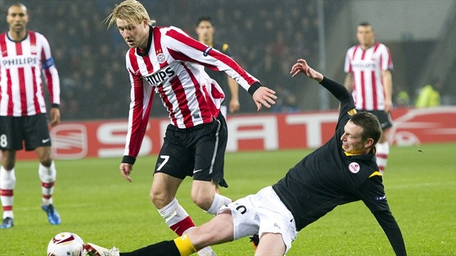 PSV fight back to oust ten-man Lille