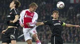 Ajax winded by Spartak sucker punch