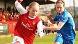 Kim Little (Arsenal LFC) & Ingrid Schjelderup (Linköpings FC)