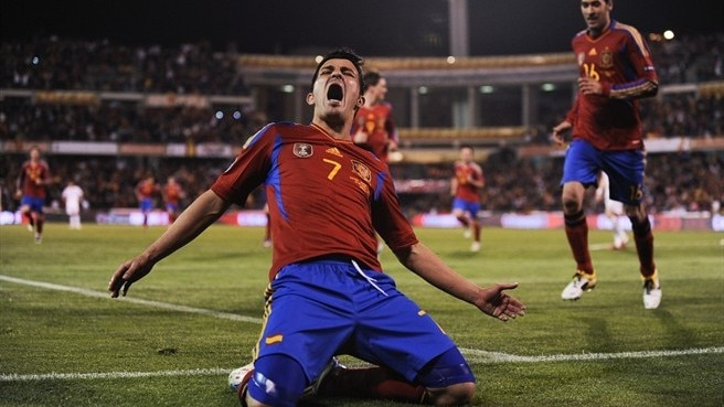 Villa at the double as Spain defeat Czech Republic