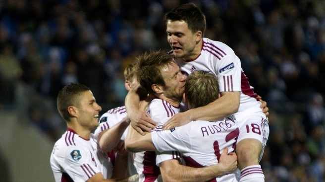 Latvia out to dent Greek ambitions