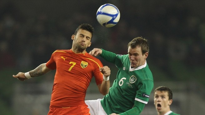 Glenn Whelan (Republic of Ireland) & Ivan Trickovski (Former Yugoslav Republic of Macedonia)