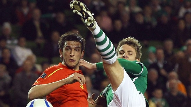 Kevin Doyle (Republic of Ireland) & Goran Popov (Former Yugoslav Republic of Macedonia)