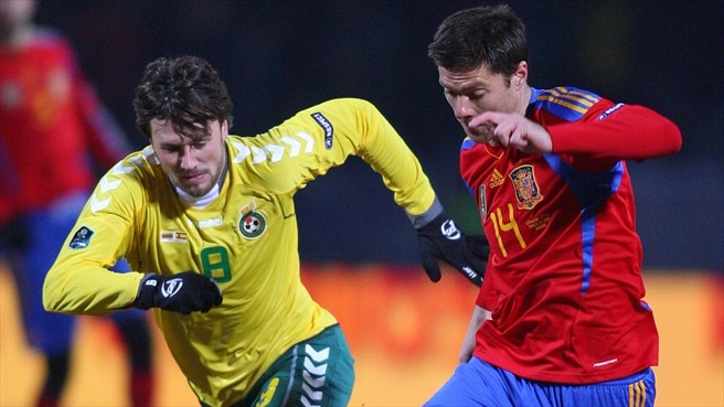 Mata the catalyst as Spain win in Lithuania