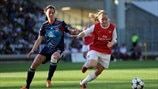 Lotta Schelin (Olympique Lyonnais) & Ellen White (Arsenal LFC)