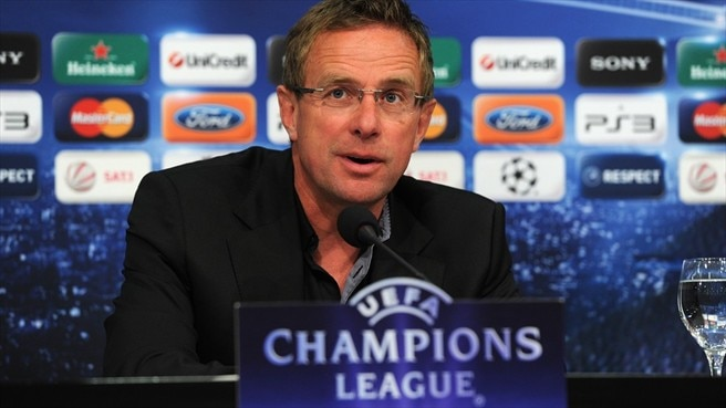 Schalke's Rangnick thrilled to meet Sir Alex