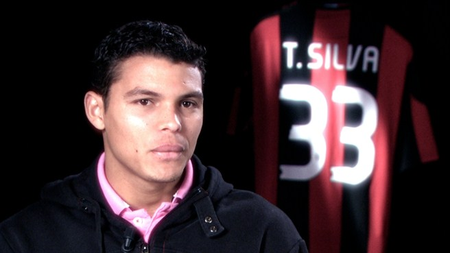 Thiago Silva counting his blessings at Milan