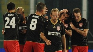 FC Thun players celebrate
