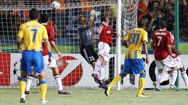 Aílton strikes twice as APOEL flatten Wisła