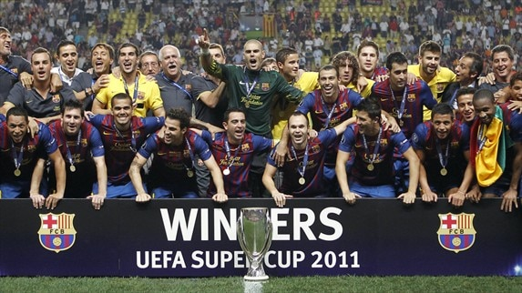 Barcelona breeze to fourth UEFA Super Cup