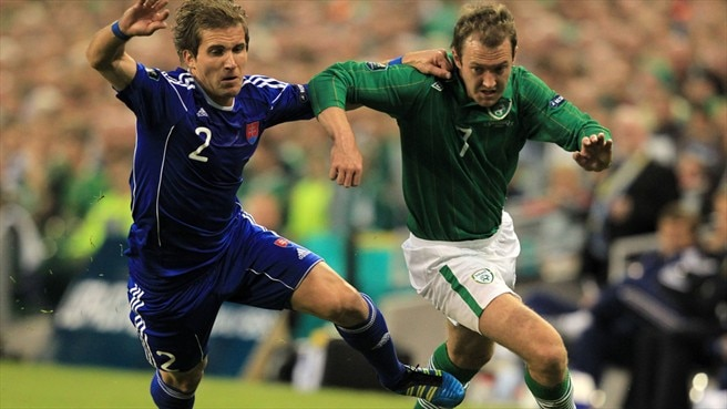 Peter Pekarík (Slovakia) & Aiden McGeady (Republic of Ireland)