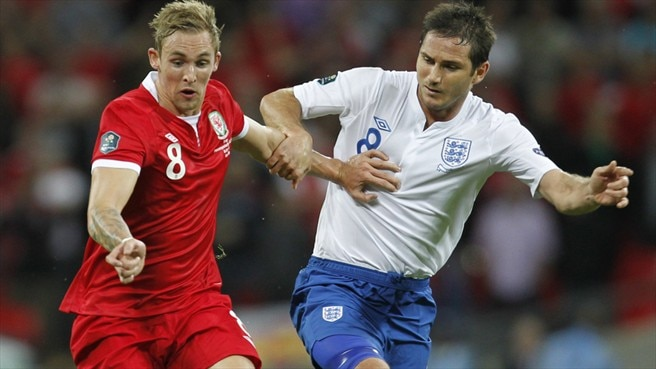 Jack Collison (Wales) & Frank Lampard (England)