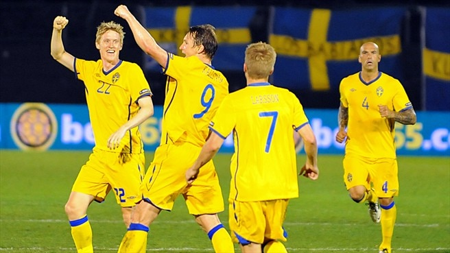 Five star Sweden too good for ten-man San Marino
