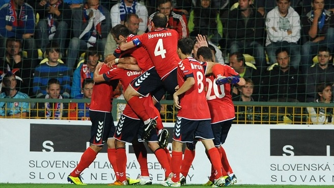 Armenia aiming high after shock Slovakia success