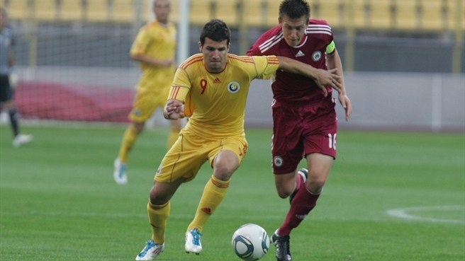 Romania secure their first victory against Latvia