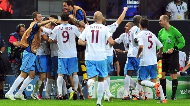 Trabzonspor strike late to stun Inter