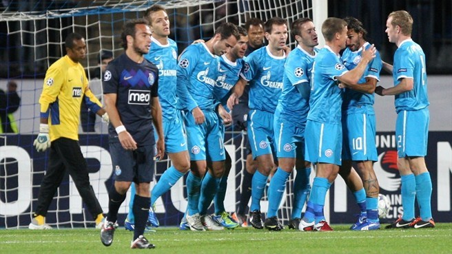 Zenit	 - Porto reaction