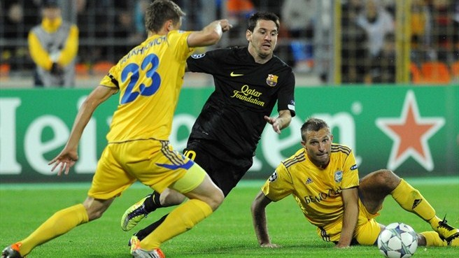 BATE have mountain to climb at Barcelona