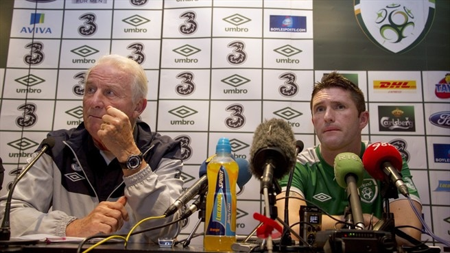 Robbie Keane & Giovanni Trapattoni (Republic of Ireland)