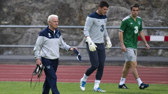Keiren Westwood & Giovanni Trapattoni (Republic of Ireland)