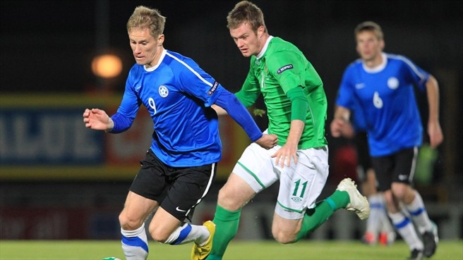 Tarmo Kink (Estonia) & Kyle Lafferty (Northern Ireland)